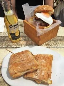 Sandwich y Hamburguesa